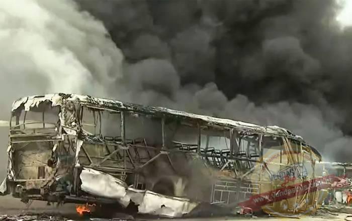doze onibus foram destruidos em incendio na garagem que fica proxima a rodoviaria da capital baiana 02