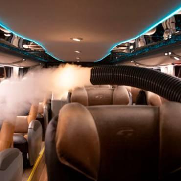 A fabricante de ônibus Marcopolo e a Viação Garcia fecham contrato para desinfecção de ônibus por nebulização contra Covid-19