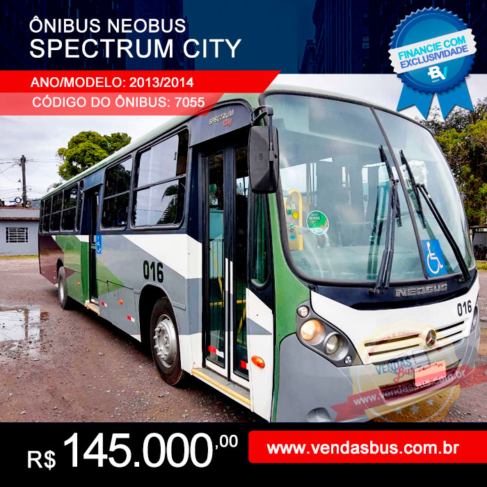 onibus neobus spectrum city urbano e escolar seminovo mercedes of 1721 bluetec 5 2013 2014